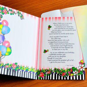 My Daughter birthday greeting card inside