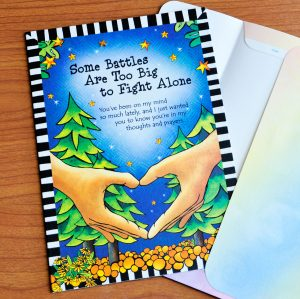 Some Battle are too big to fight alone greeting card - outside