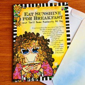 sunshine for breakfast greeting card - outside