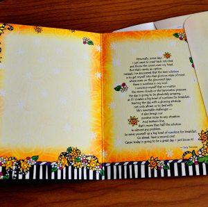 sunshine for breakfast greeting card - inside