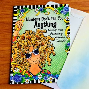 Nimber Don't tell you anything greeting card - outside