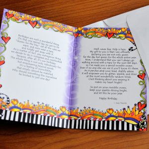 It's Your Birthday greeting card - inside