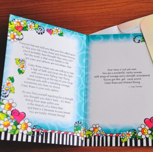 Crazy Brave greeting card - inside