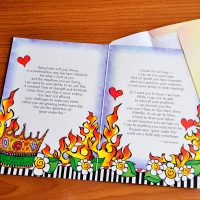 """Your trials have declared """"Grace Under Fire"""" (But you don't have to do it alone) – Greeting Card"""