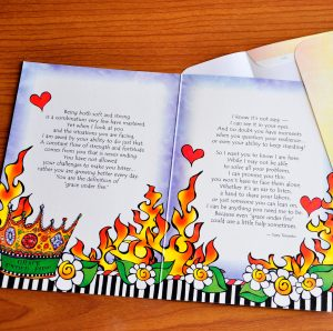 Grace under Fire greeting card - inside