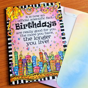 More Birthdays the longer you live greeting card - outside