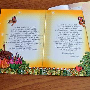Birthday Greeting card - inside