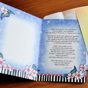 Hey there birthday girl greeting card inside