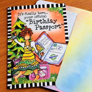 Birthday Passport birthday greeting card outside