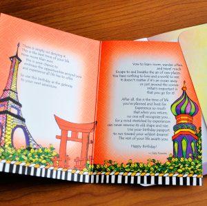 Birthday Passport birthday greeting card inside