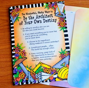 Architect of your own Destiny - greeting card - outside