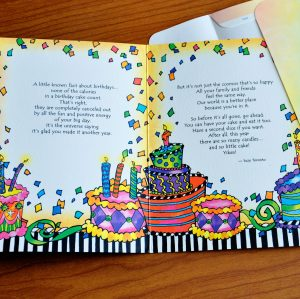 Birthday - Eat more Cake - greeting card inside