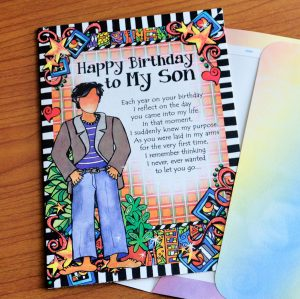 Birthday - My Son - Greeting card outside