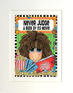 Never Judge art print matted