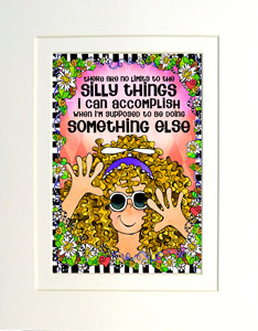 Silly Things art print matted