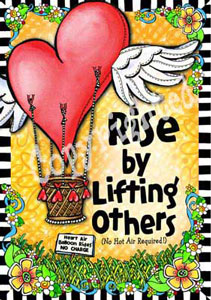 rise by lifting other art print
