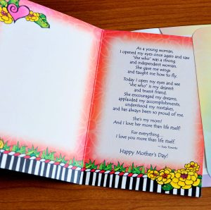My Mom on Mother's Day greeting card - inside