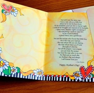 My Daughter-in-law on Mother's Day greeting card - inside