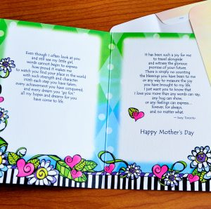 My Daughter on Mother's Day greeting card - inside