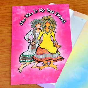 Best Friends greeting card - outside
