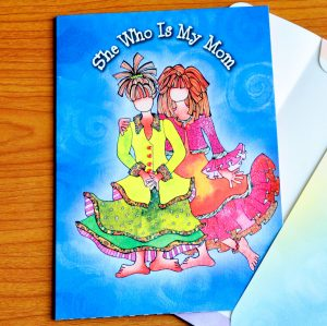My Mom greeting card - Outside