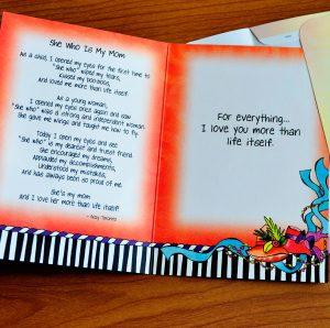 My Mom greeting card - Inside