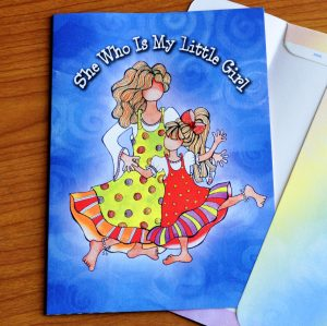 Little Girl Greeting Card - outside