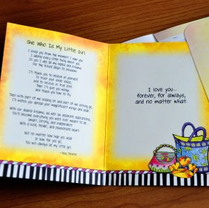 Little Girl Greeting Card - inside