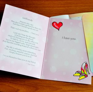 Girlfriends greeting card - inside