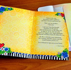Girlfriends greeting card - inside