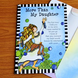 more than my daughter greeting card - outside