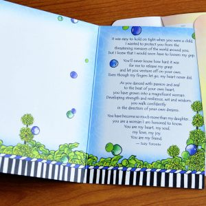 more than my daughter greeting card - inside