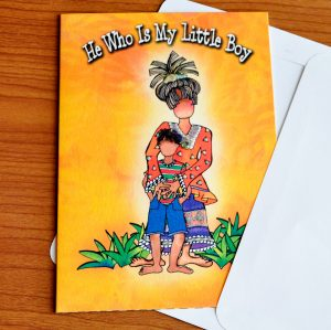 My Little Boy Greeting Card - Outside