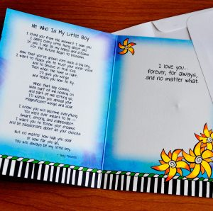 My Little Boy Greeting Card - inside