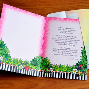 forever friends greeting card - inside