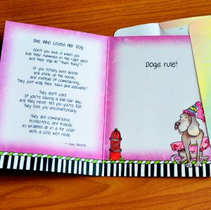 She who Loves her Dog greeting card - inside