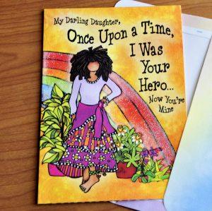 Darling Daughter greeting card - outside