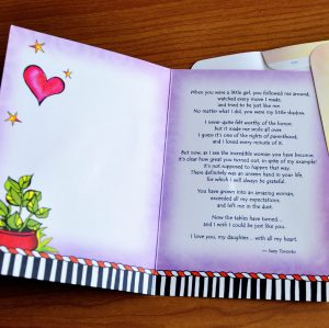 Darling Daughter greeting card - inside