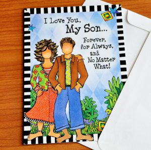 Forever my Son greeting card - outside