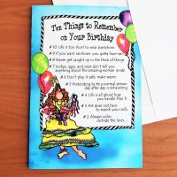 Ten Wonderful, Wacky Things to Remember on Your Birthday (Birthday) – Greeting Card