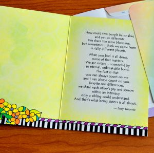 Sisters, Unbreakable Bond greeting card - outside