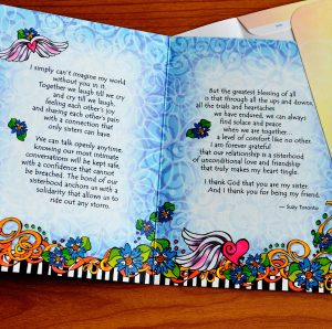 Heart Tingling Sisters greeting card inside