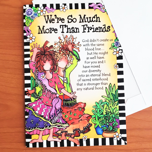 More Than Friends greeting card - outside