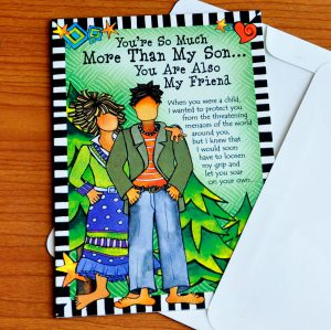 more than my Son greeting Card - outside