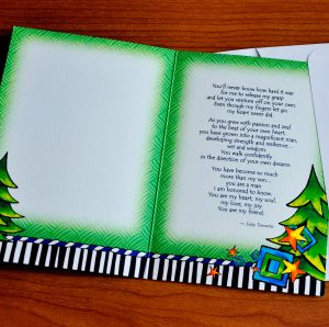 more than my Son greeting Card - inside