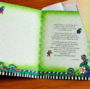 A Sister like you greeting card - inside