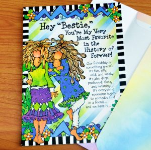 Bestie greeting card - outside