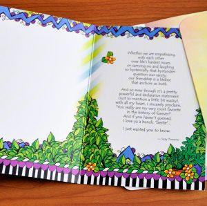 Bestie greeting card - inside