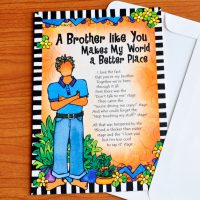 A Brother like You Makes My World a Better Place – Greeting Card