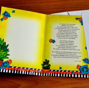 My Pround Son greeting card - inside